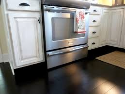 painted kitchen floor ideas cool white kitchens with black floors