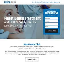 dental clinic appointment lead capture landing page design best