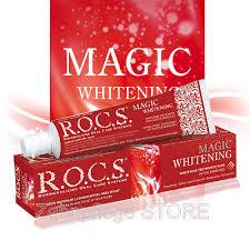 toothpaste whitening r o c s magic whitening toothpaste 60 ml dental care store