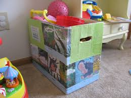 Build A Toy Box by Reuse Diaper Boxes To Make Cute Toy Bins