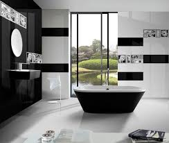 black and white tile is a bath trend
