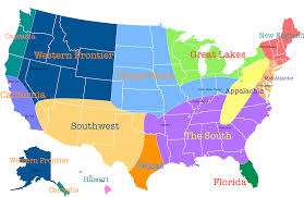 map usa regions major tourist attractions maps