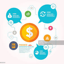 coin and finance infographic template vector art getty images