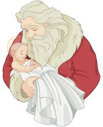 santa and baby jesus picture santa and baby jesus stock vector illustration of image 80298095