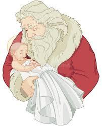 santa and baby jesus santa and baby jesus stock vector illustration of image 80298095