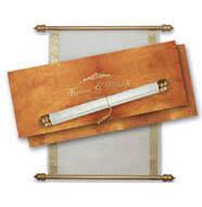Scroll Invitation Rods Royal Scroll Invitations