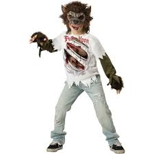 halloween t shirts for girls amazon com incharacter costumes llc boys werewolf mask and shirt