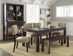 Gavelston Urbanology Black Beige Wood Pc Dining Room Set The - Ashley furniture dining table black
