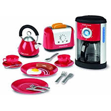 Toaster And Kettle Deals Amazon Com Casdon Little Cook Morphy Richards Kitchen Set Toys