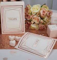 rose gold candy table x100 beautiful blush rose gold sweet bags wedding candy cart