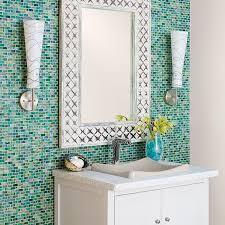 sea glass bathroom ideas sea glass tile bathroom contemporary with accent colors bath sea