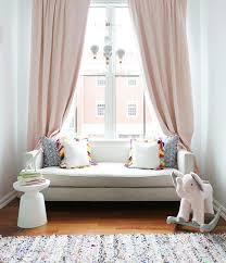 White And Pink Nursery Curtains Blush Pink And Gray Nursery Colors Transitional Nursery