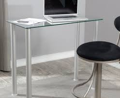 Stylish Computer Desk Play Glass And Chrome Computer Desk Tags Glass Desk With Storage