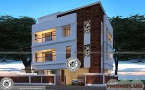 3 story home plans elevation designs for 3 floors building modern home plans