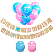 gender reveal balloons boy or girl banner and gender reveal balloons decorations for baby