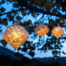 glow lights glow solar glass lantern string lights by allsop home and