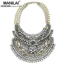 diy jewelry statement necklace images Latest exaggerated chokers women vintage statement necklace big jpg