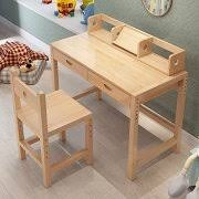 tribesigns kids study desk with chair height adjustable solid