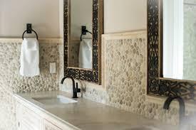 java pebble tile high end bathroom backsplash and walls
