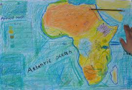 Africa Map Physical by Drawing A Physical Map Of Africa The Troutbeck