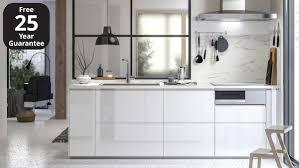 white gloss kitchen doors cheap voxtorp high gloss white kitchen ikea ireland