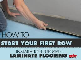 laminate flooring installation tutorial how to start your row