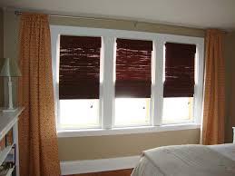 interior pleasing look of master bedroom window treatments with
