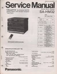 panasonic sahm32 sa hm32 stereo system service instruction sa