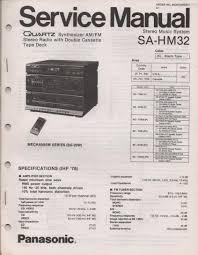 panasonic sahm32 sa hm32 stereo system service instruction sa