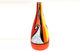 African Vases Lorea Vase African Sunset Colors Handcrafted Imports