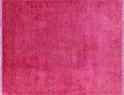 Pink 8x10 Rug 8 X 10 Pink Persian Full Pile Overdyed Handmade Oriental Area Rug