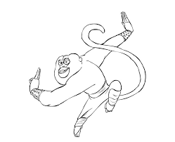 kung fu panda joyous monkey colouring picolour