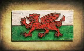england home decor weathered wood one of a kind 3d welsh flag wooden vintage art