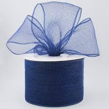 navy blue ribbon 4 poly deco mesh ribbon navy blue rs200119 craftoutlet