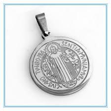 religious pendants womens mens christian cross pendants stainless steel silver circle