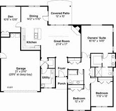 floor plans 2000 sq ft house plan one ranch house plans 2000 square house