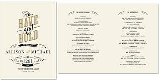 Wedding Ceremony Program Sample Exellent Wedding Ceremony Program Image Weddin 9835 Johnprice Co