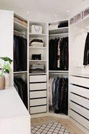 White Bedroom Brown Furniture Walk In Bedroom Closet Designs L Shaped White Finish Maple Walk