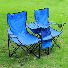 Sports Chair With Umbrella Portable Folding Picnic Double Chair W Umbrella Table Cooler Beach