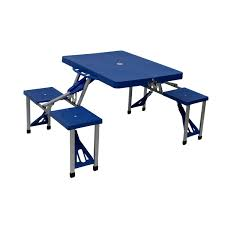 picnic tables folding with seats portable folding outdoor picnic table and bench set 4 seats 29 99