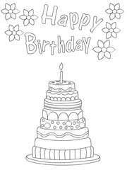 free printable birthday coloring cards cards create print