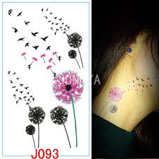 wholesale 1x colored dandelion stickers tattoos