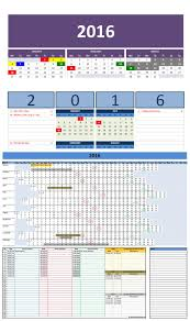 Excel Calendar Template Free 2016 Excel Calendars Template