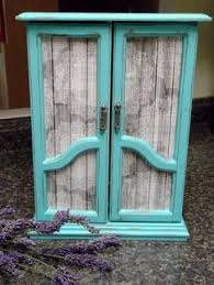 Shabby Chic Jewelry Armoire by Shabby Chic Vintage Jewelry Box Tall Jewelry Armoire French