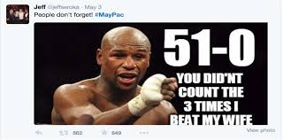Domestic Violence Meme - twitter goes crazy mayweather vs pacquiao fight ingrid9soccer