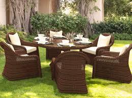 m chaises artelia fr table et chaises résine tressée ronde pour 6 personnes