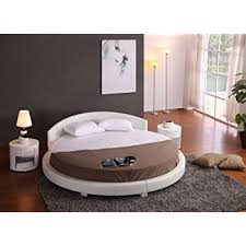 Circular Bed Frame Oslo Bed With Headboard Lights Size Black