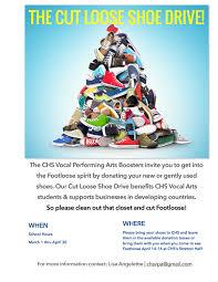 shoe drive fundraiser now through april 30 cheltenham high