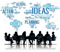 global business meeting creativity ideas concept stock