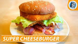homemade super cheeseburger recipe youtube